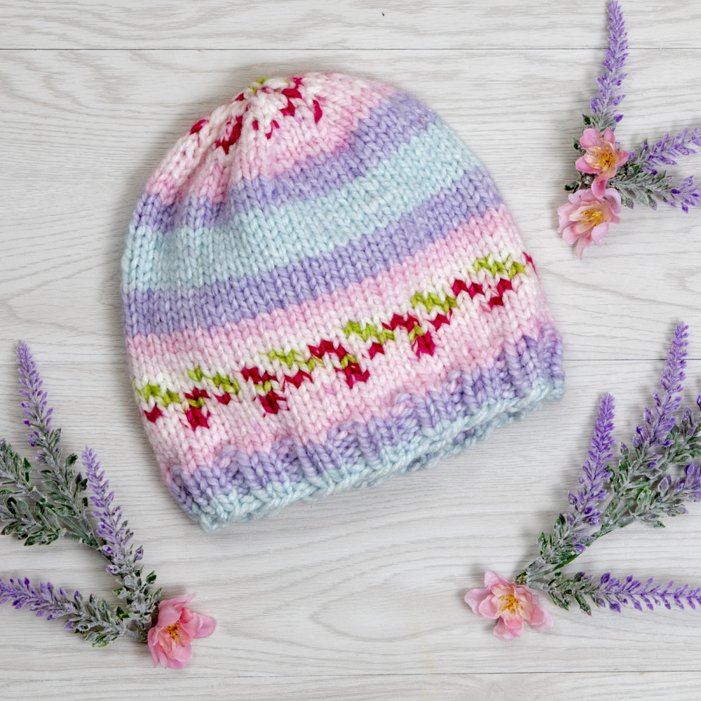 Bloom Chunky Basic Beanie in 2020 | Baby knitting patterns ...