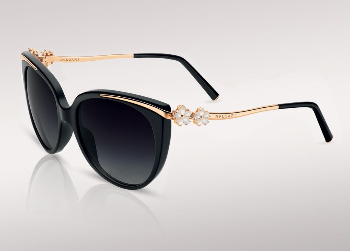 Bulgari, sunglasses le gemme primavera with mother of pearl flowers on frame