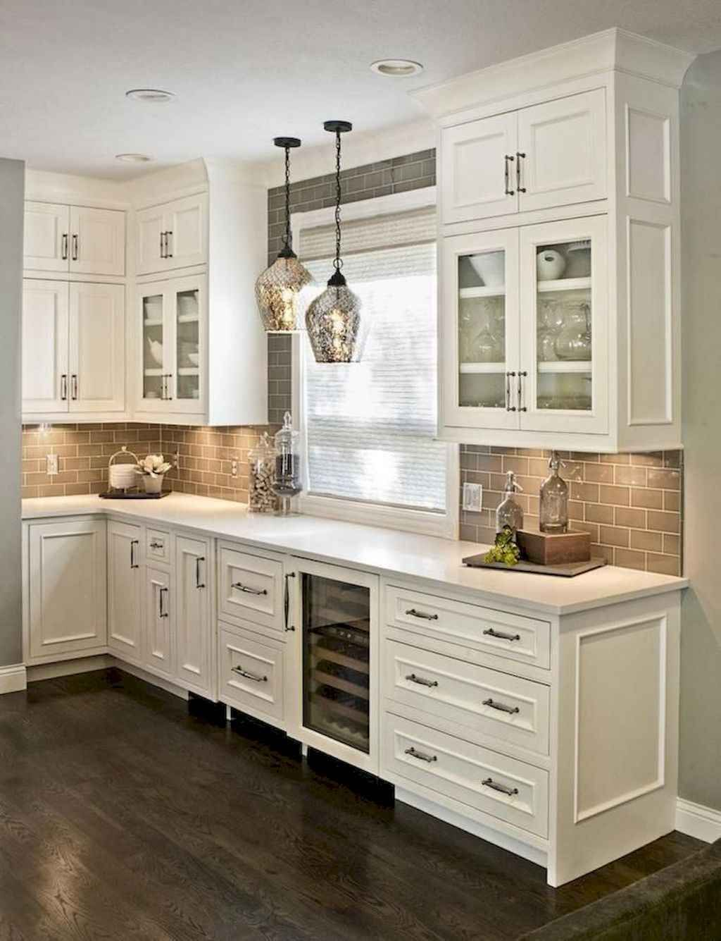 65 Modern Farmhouse Kitchen Cabinet Makeover Ideas - Kitchen cabinet design, Rustic kitchen cabinets, Kitchen cabinets decor, Kitchen backsplash designs, Kitchen renovation, Farmhouse kitchen backsplash - Farmhousestyle kitchens tend to focus on natural materials, unpretentious design, and cooking spaces that can accommodate large meals  If you're thinking of kitchen decorating or remodeling, you can think about going for farmhouse decor because it's among the most wellknown… Continue Reading →