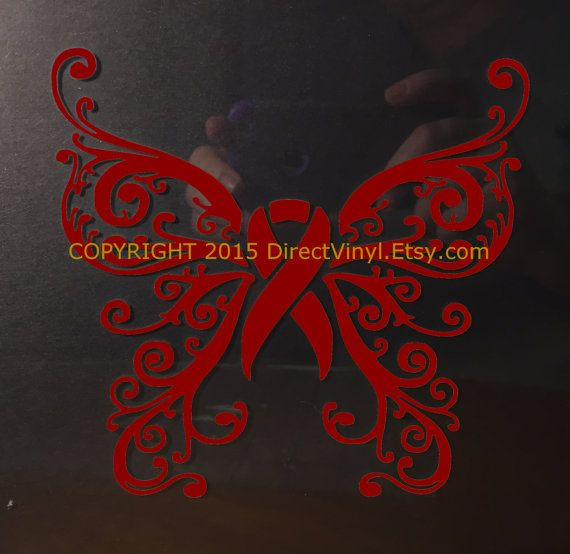Burgundy Awareness Ribbon Fancy Butterfly Vinyl By Directvinyl Vinyl Window Decals Cancer Ribbon Tattoos Multiple Myeloma
