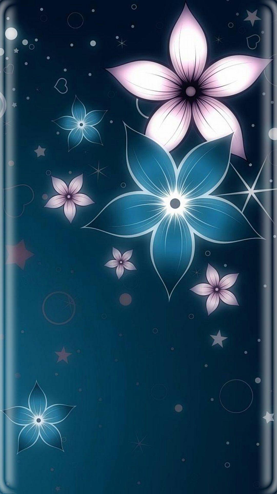 Samsung Iphone Edge Phonetelefon 3d Wallpaper Digital Flowers Art Wallpaper Phone Wallpaper
