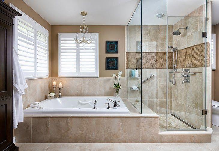 Ba o con ducha y ba era awesome interiors pinterest for Decoracion de banos con ducha