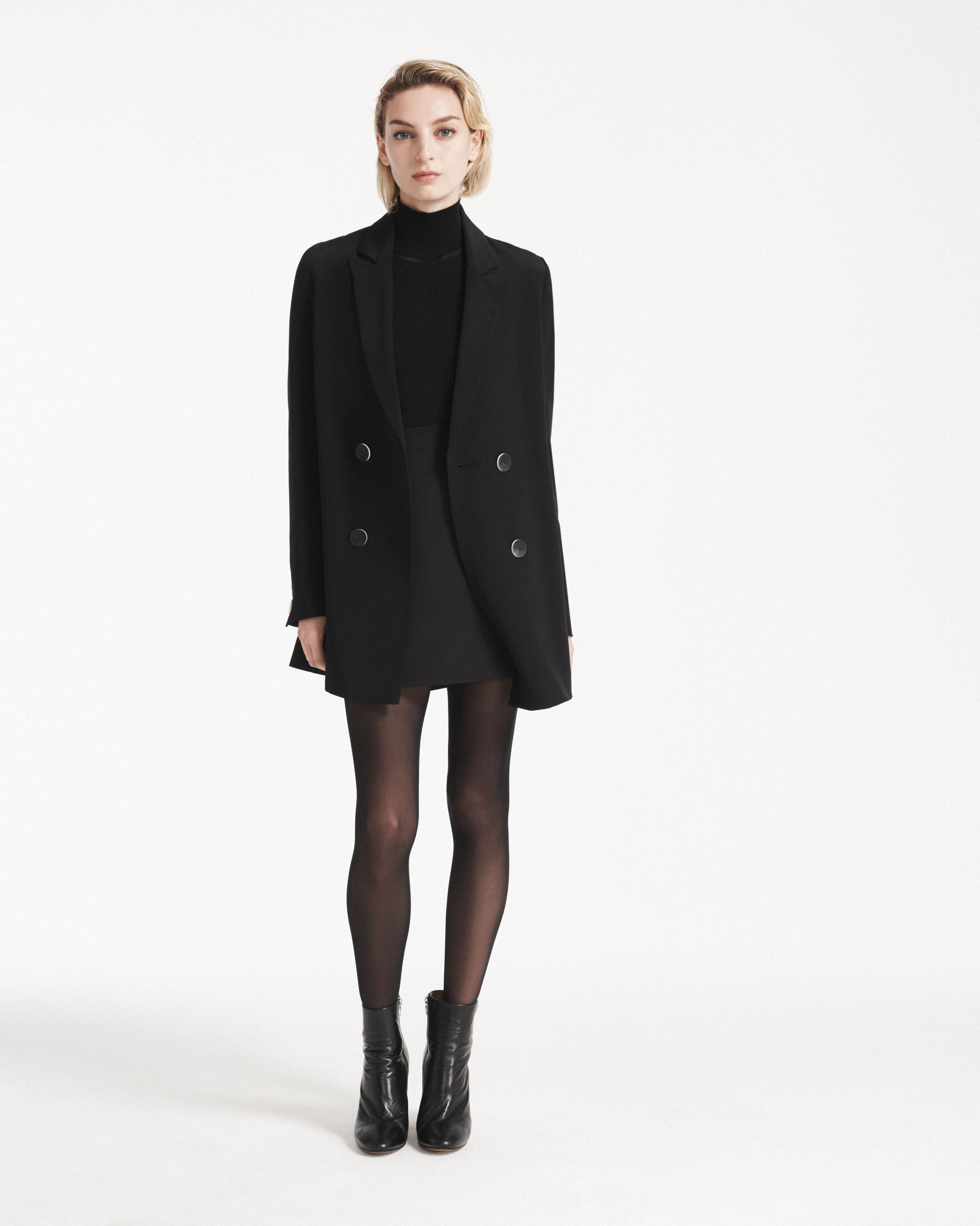 2a236f14223a The Austen Skirt and Beatrice Turtleneck worn with the Florence Blazer Dress
