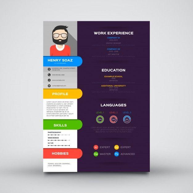 Free Resume CV Design Templates In Vector Format