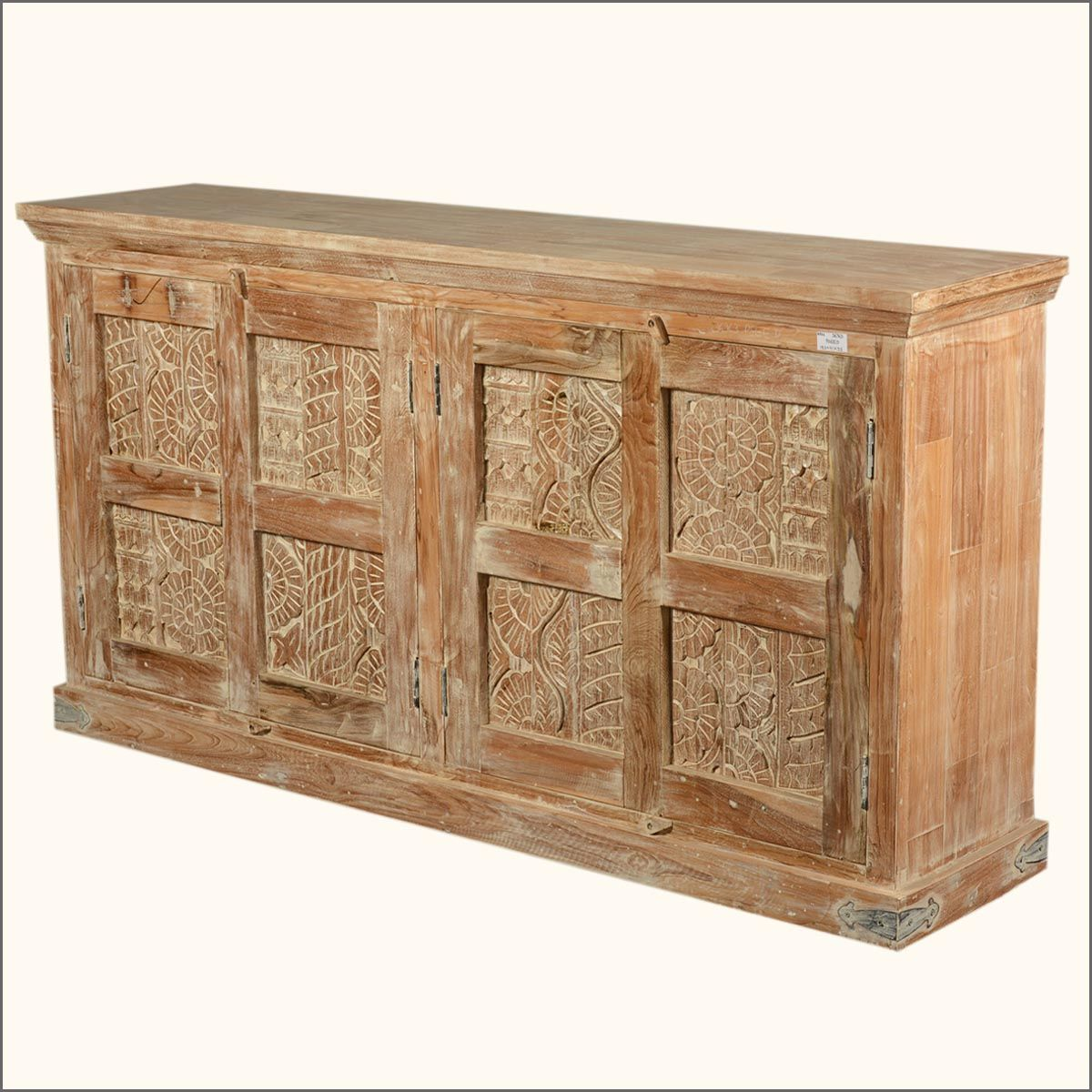 72 Reclaimed Wood Nottingham Hand Carved Large Buffet Sideboard Reclaimed Wood Sideboard Rustic Storage Cabinets Rustic Sideboard