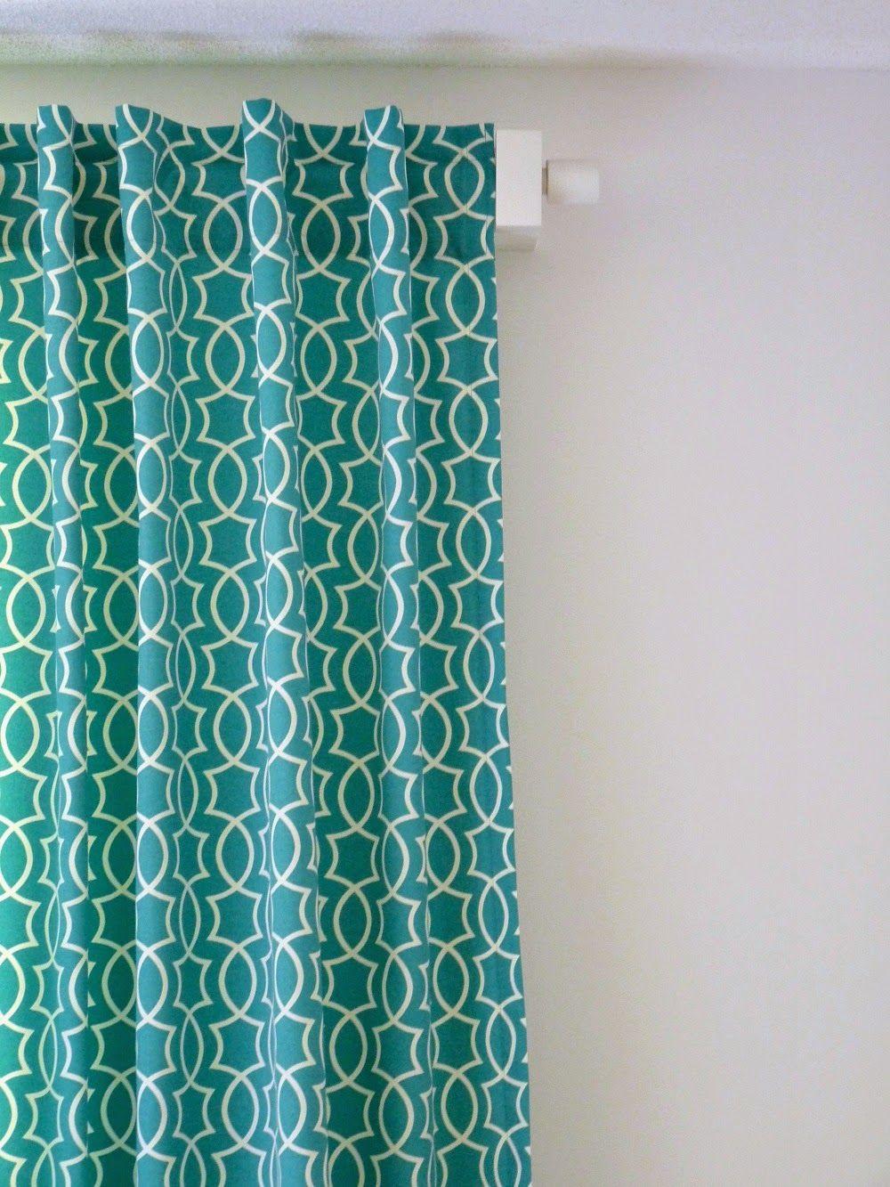 Diy Back Tab Curtain Tutorial Diy Home Tab Curtains