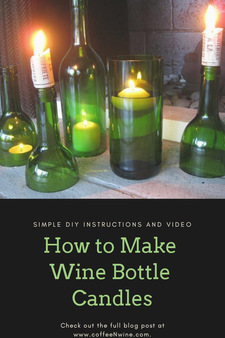 DIY Wine Bottle Candles Easy DIY instructions