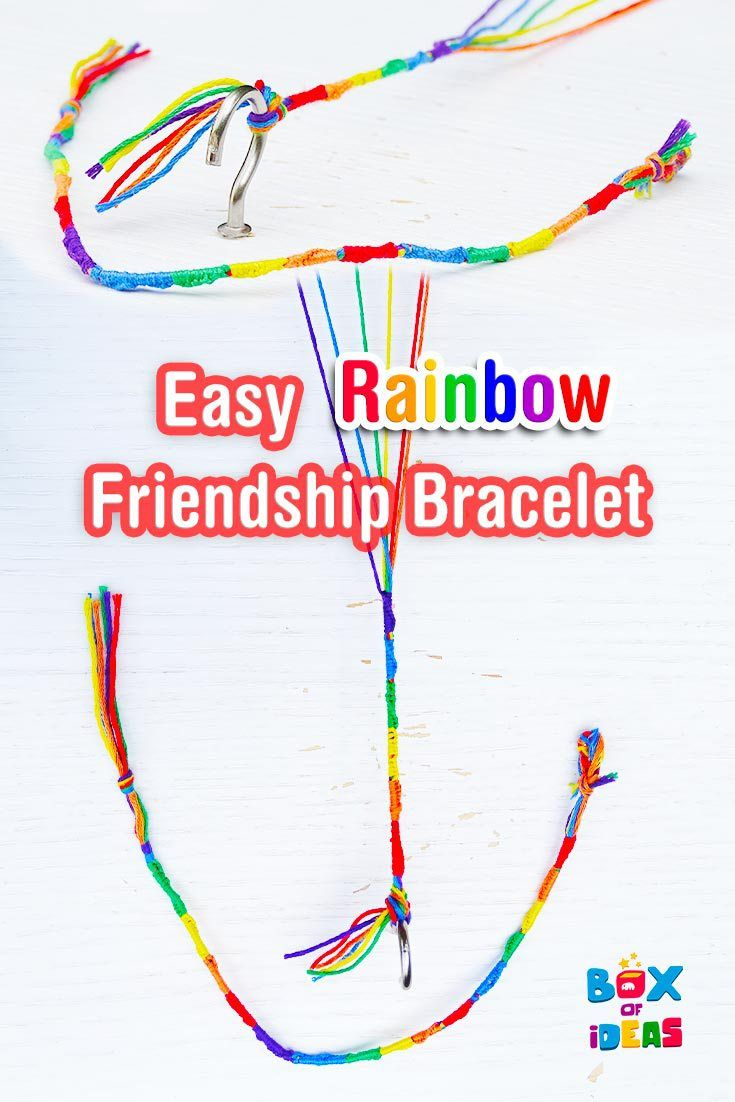 Easy Rainbow Friendship Bracelet Craft For Summer Camp