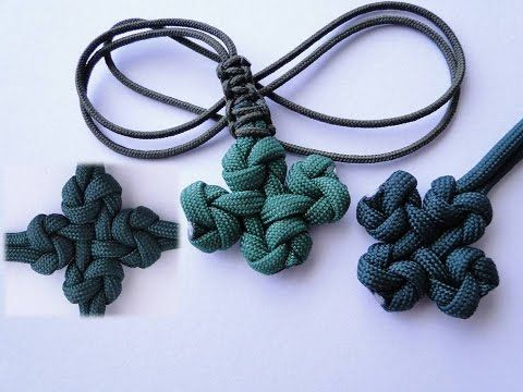 How to Make a Four Leaf Clover Knot-Version by CbyS Paracord