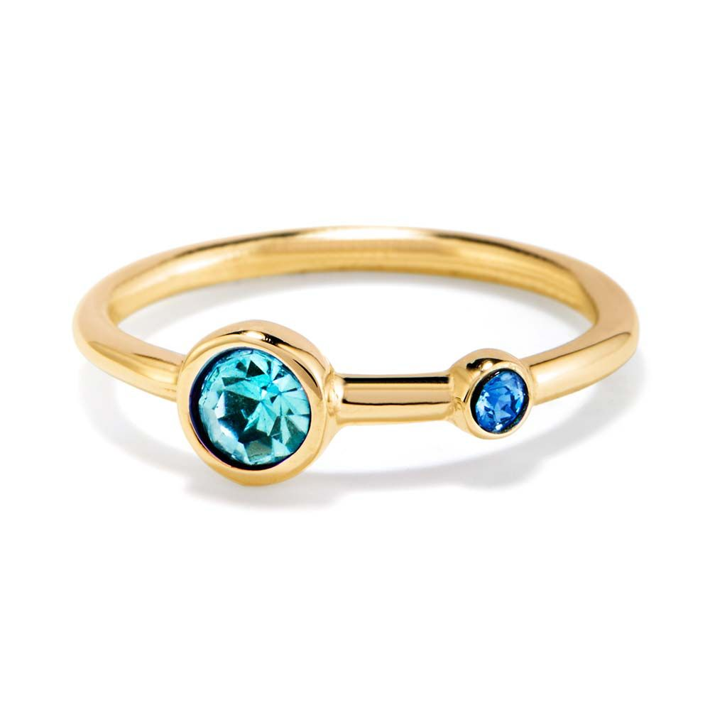 Gift a new mother a custom birthstone ring with her birthstone and her new childs as well. Pick the birthstones yourself and customize a new mother ring today!