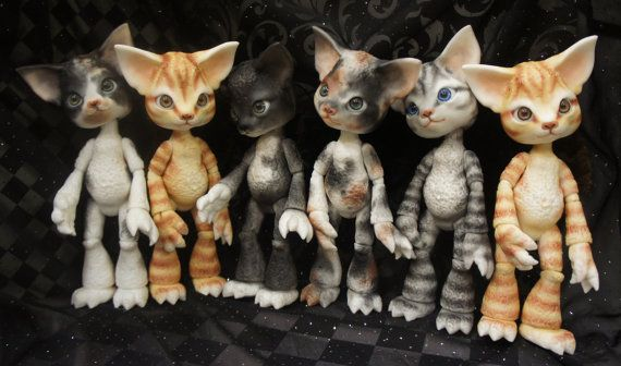 Scratch the Cat - ball joint doll / BJD