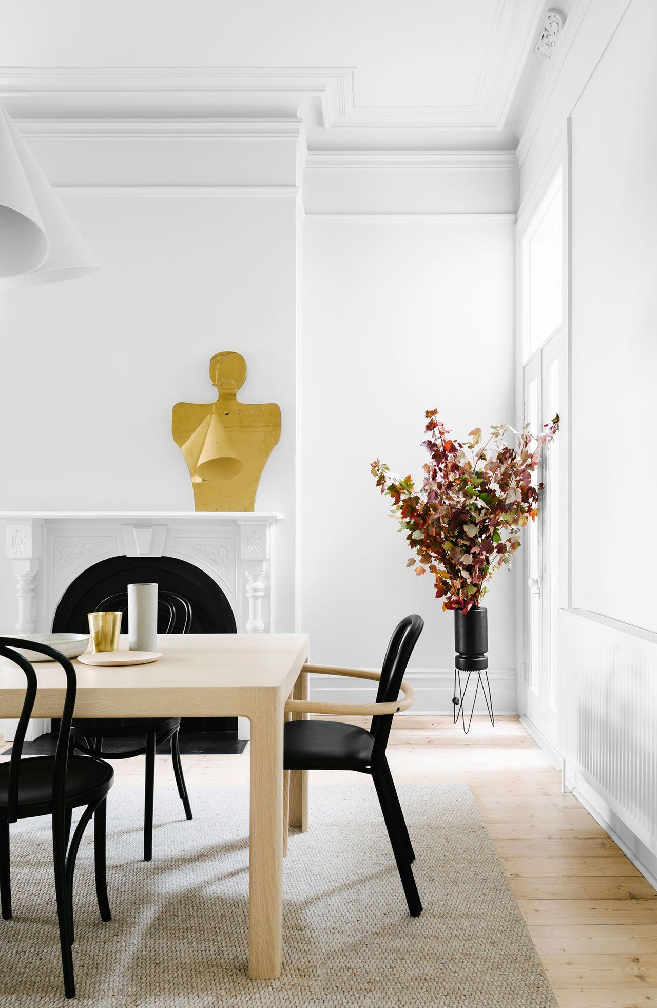Gold-Tinged Scandinavian Simplicity for a Melbourne Apartment by Fiona Lynch | Yatzer