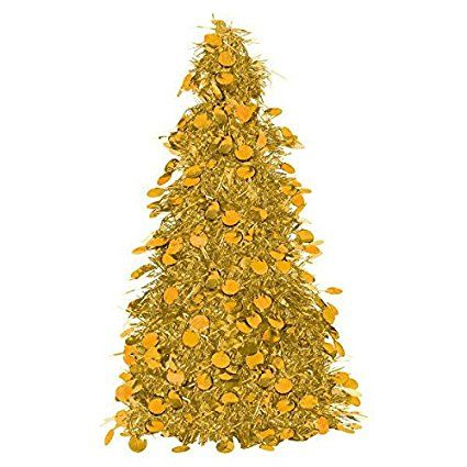 celebrate stately christmas elegance with gold christmas theme party supplies including all gold christmas decorations tableware and more - Tinsel Christmas Decorations