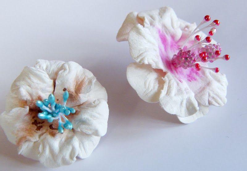 Ewa Szubra Kurs Na Kwiatka Z Papieru Czerpanego Flower Tutorial Paper Flowers Paper Crafts