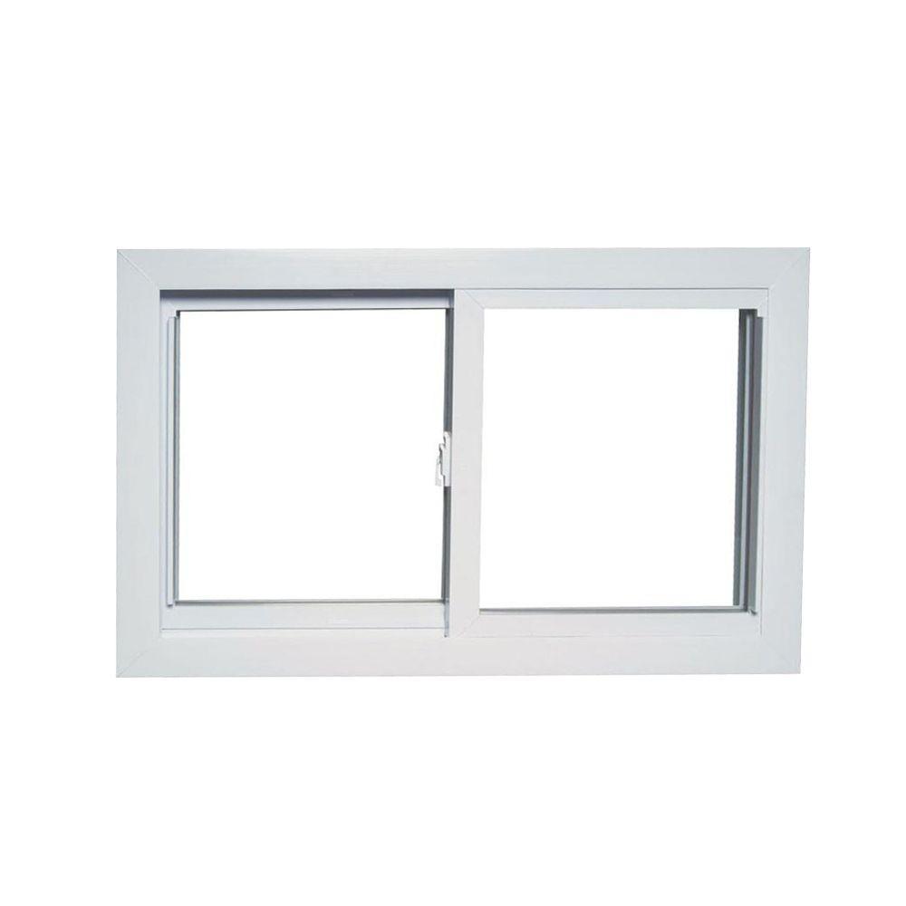 American Craftsman 31 In X 19 In 70 Series Universal Reversible Sliding White Vinyl Window With Buck Frame 70 Slider Buck The Home Depot Modern Window Design Window Vinyl American Craftsman