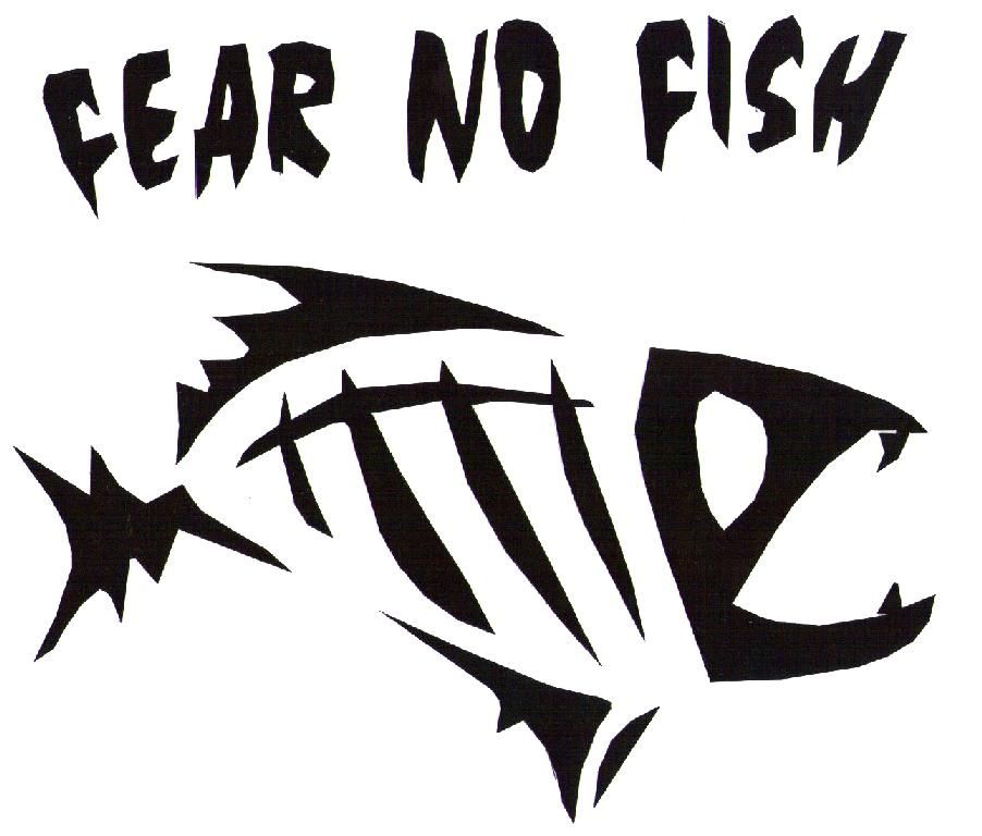 Fear no fish mirror image silhouette pinterest for Fear no fish