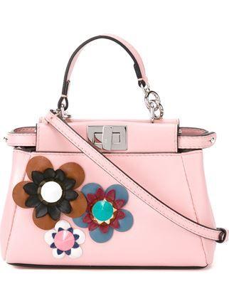 4195268174 Fendi Micro 'peekaboo' Crossbody Bag - Luisa World - Farfetch.com ...