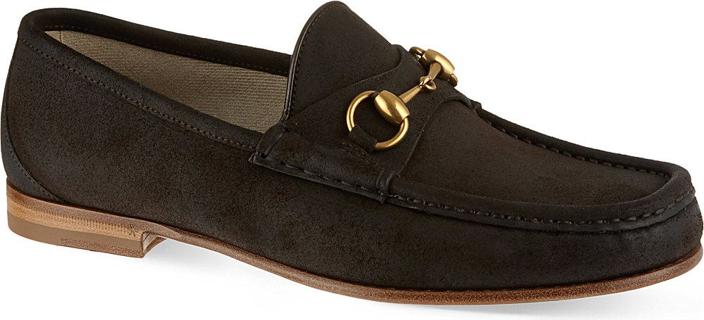 a018bfde4 Gucci Suede Loafers for Men | SHoe string gallery | Mens suede ...
