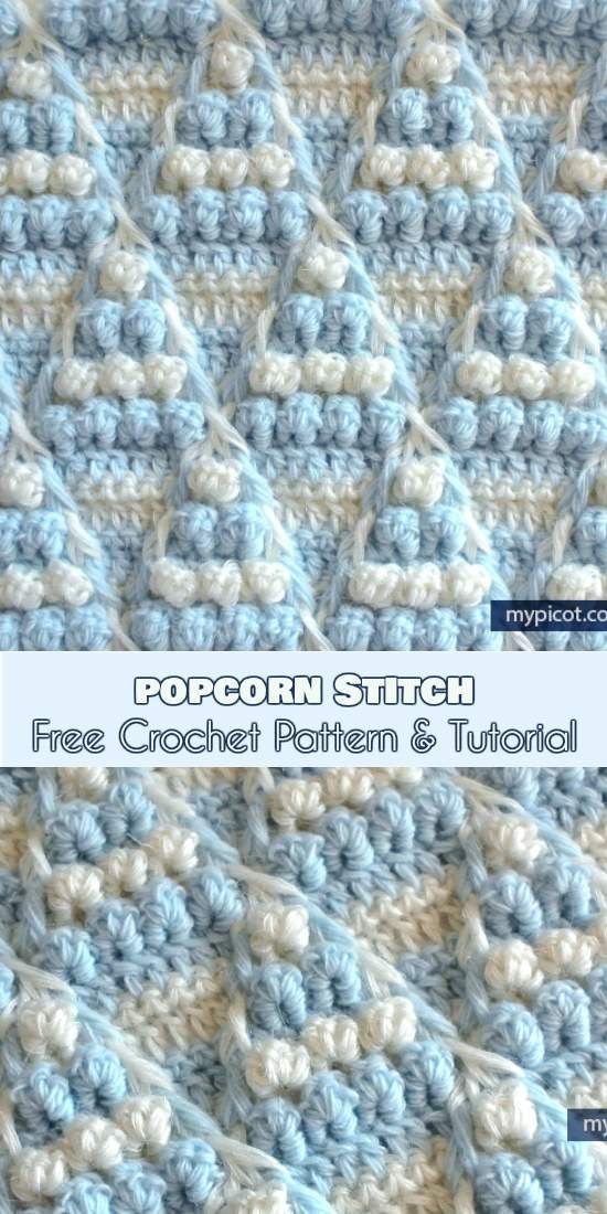 Popcorn Stitch Free Crochet Pattern and Tutorial | Pinterest ...