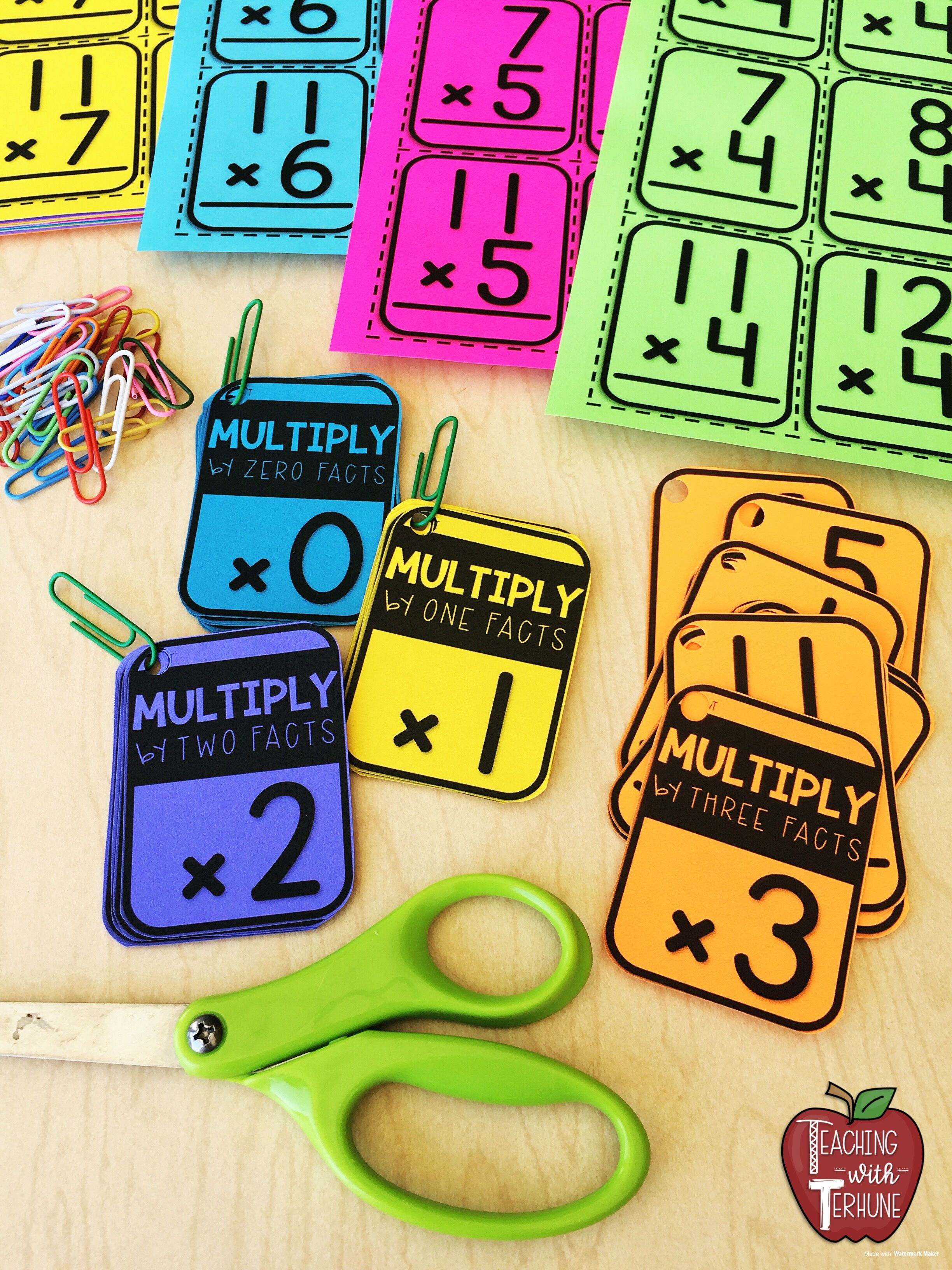 Multiplication Flash Cards Printable Flashcards With