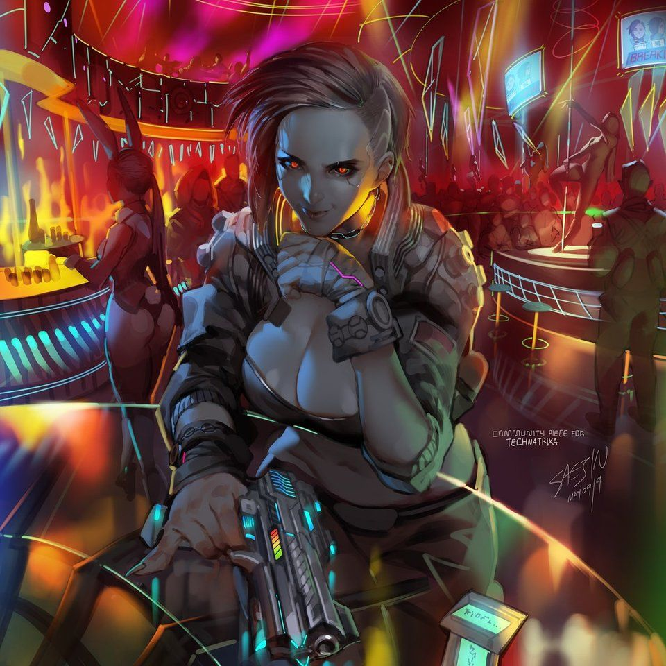 Cyberpunk 2077 Fem V Artwork by Saejin-Oh : cyberpunkgame ...
