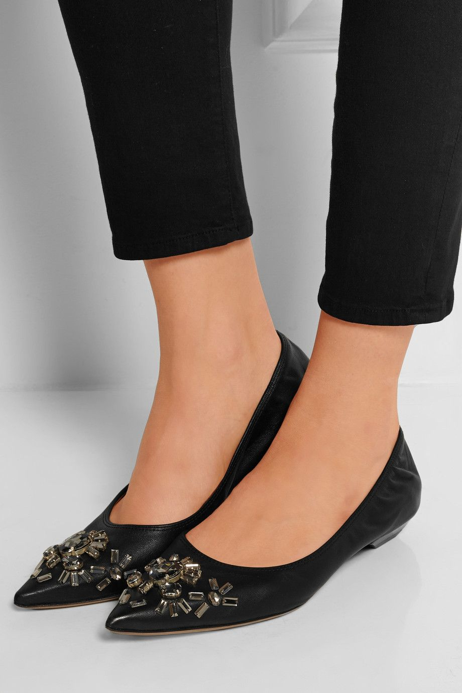finishline cheap price classic cheap price Lanvin Embellished Satin Flats w/ Tags Qb0s1Gdl