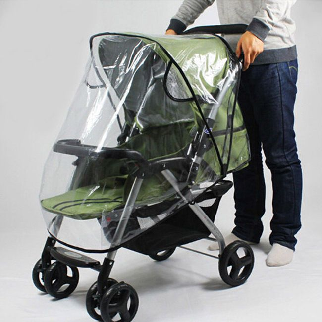 Universal Buggy Rain Cover Waterproof Raincover For Baby Pushchair Stroller Pram