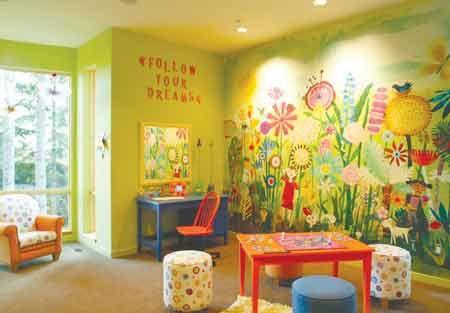 cmo decorar un cuarto de juegos infantil