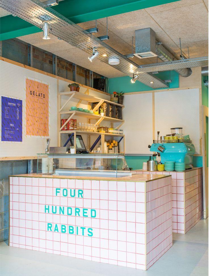 Colourful Restaurant Design Tour: 400 Rabbits, London
