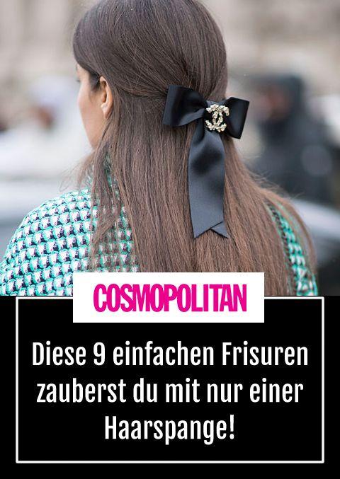 Frisuren Mit Haarklammer Fur Diese Frisuren Brauchst Du Nur 1 Haarspange Easy Frisuren Haarspangen Haare