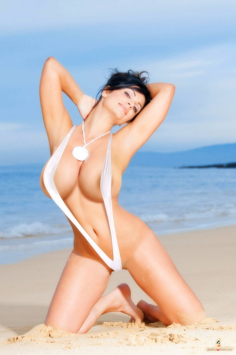 Denise milani nude in beach