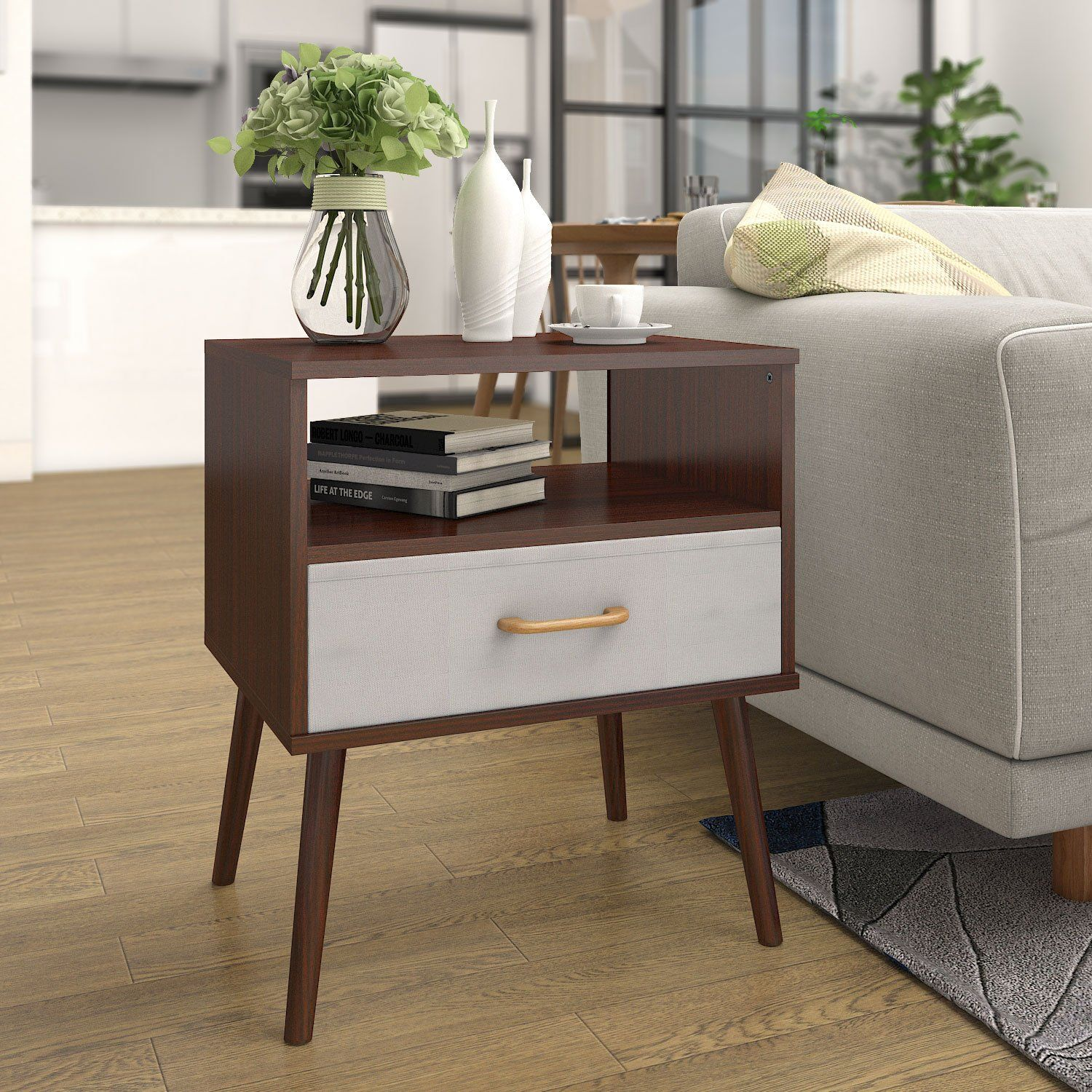 Best Mid Century Modern Nightstand With Open Storage Or A 400 x 300