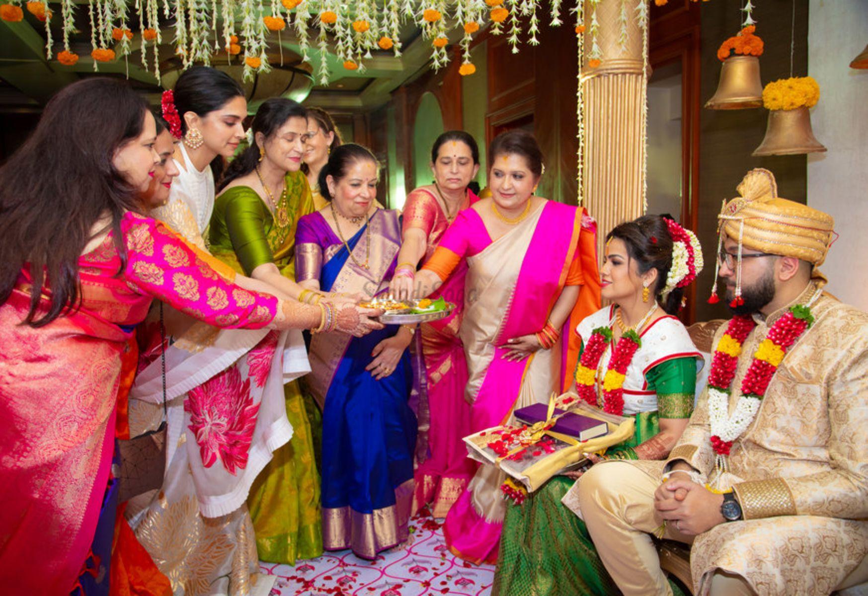 Deepika Padukone at her cousin's wedding Celebrity