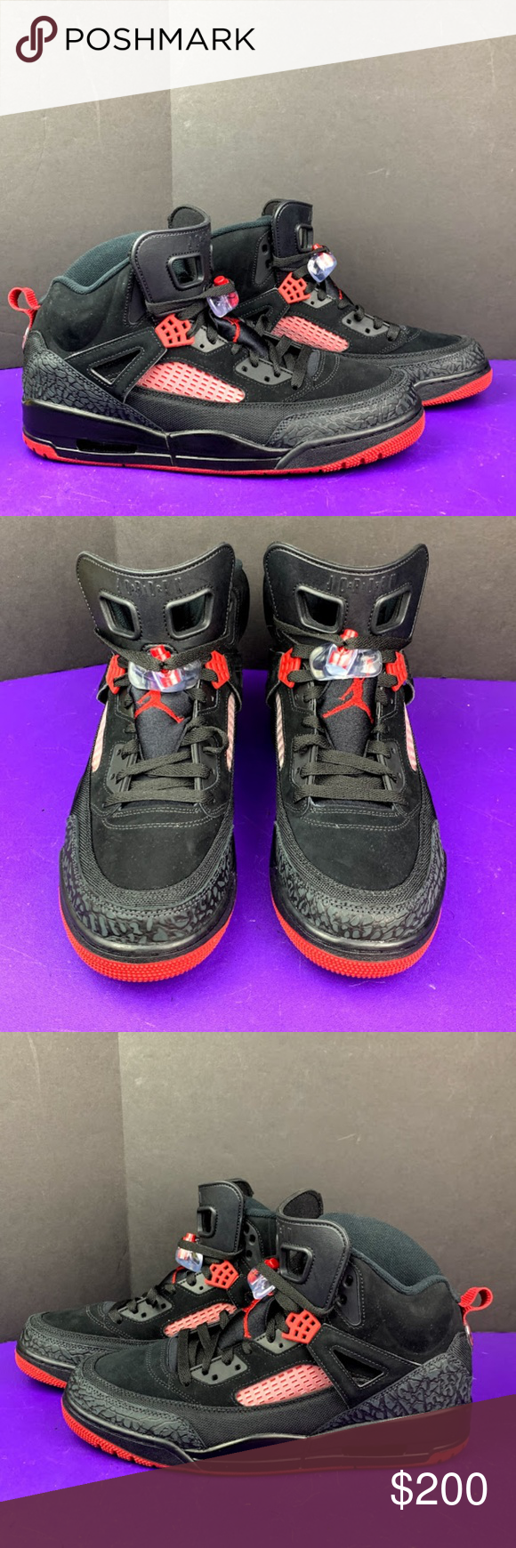 buy popular 3eeee eb4c1 Jordan SPIZIKE Basketball Shoes Black Gym Red Jordan SPIZIKE Basketball Shoes  Black Gym Red Anthracite