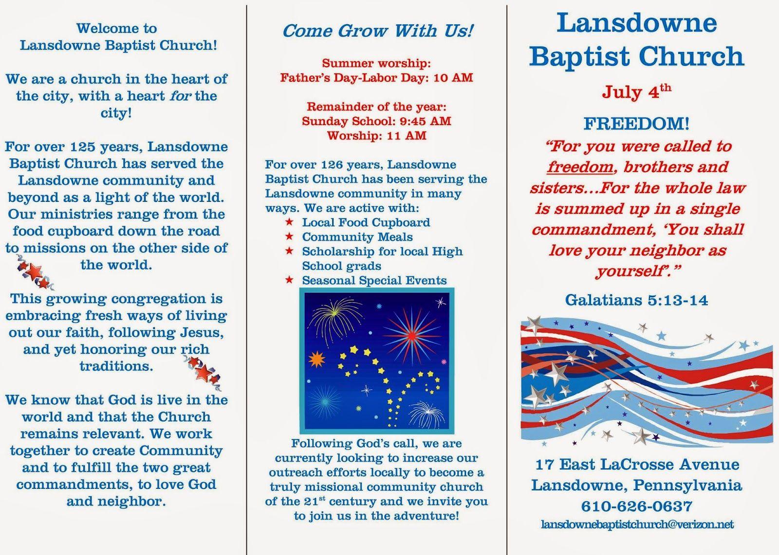 Lansdowne Baptist Church Lansdowne Baptist Church Baptists