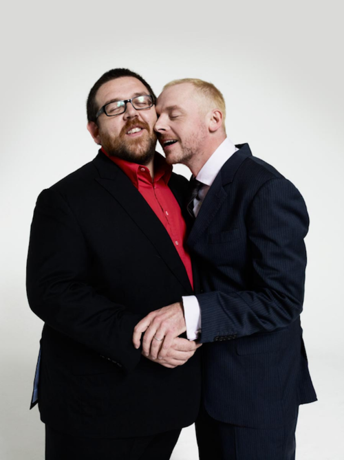 Nick Frost and Simon Pegg, darlings....funny funny darlings.