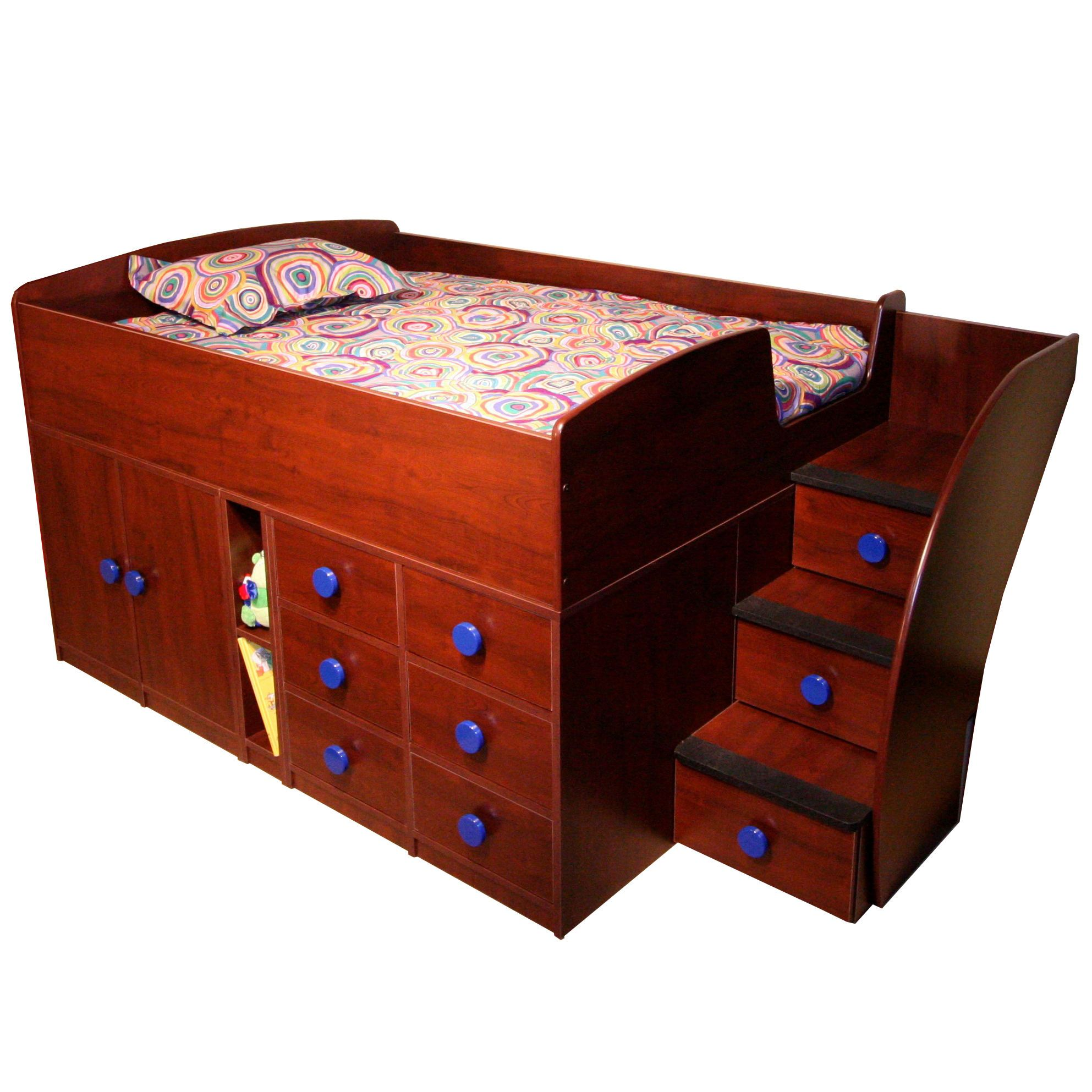 Best Berg Furniture Sierra Twin Captain Bed With Stairs And 400 x 300
