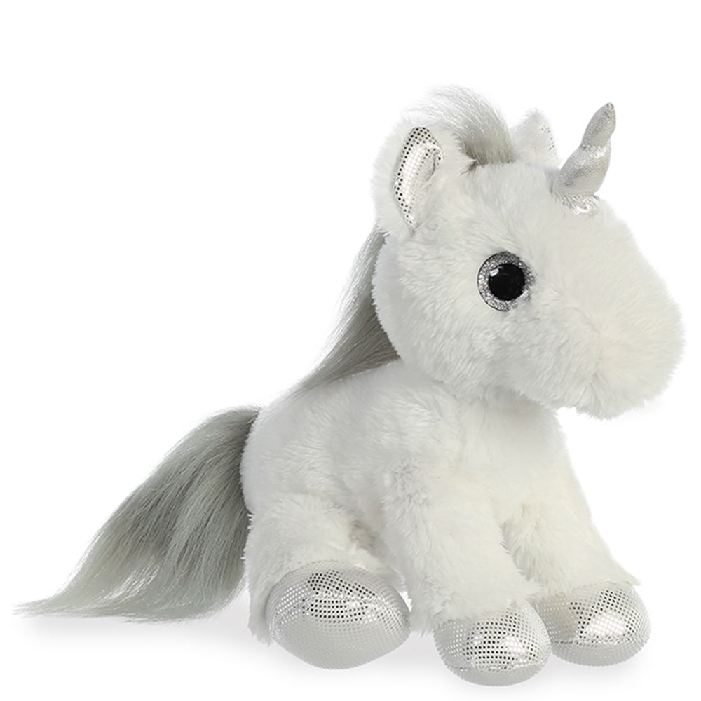 Silver and White Unicorn Plush Animal dolls, Animal