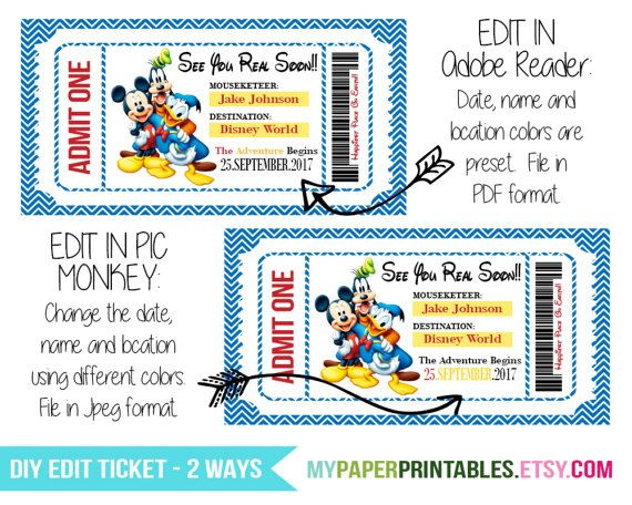 It's just a picture of Handy Free Printable Pretend Disney Tickets