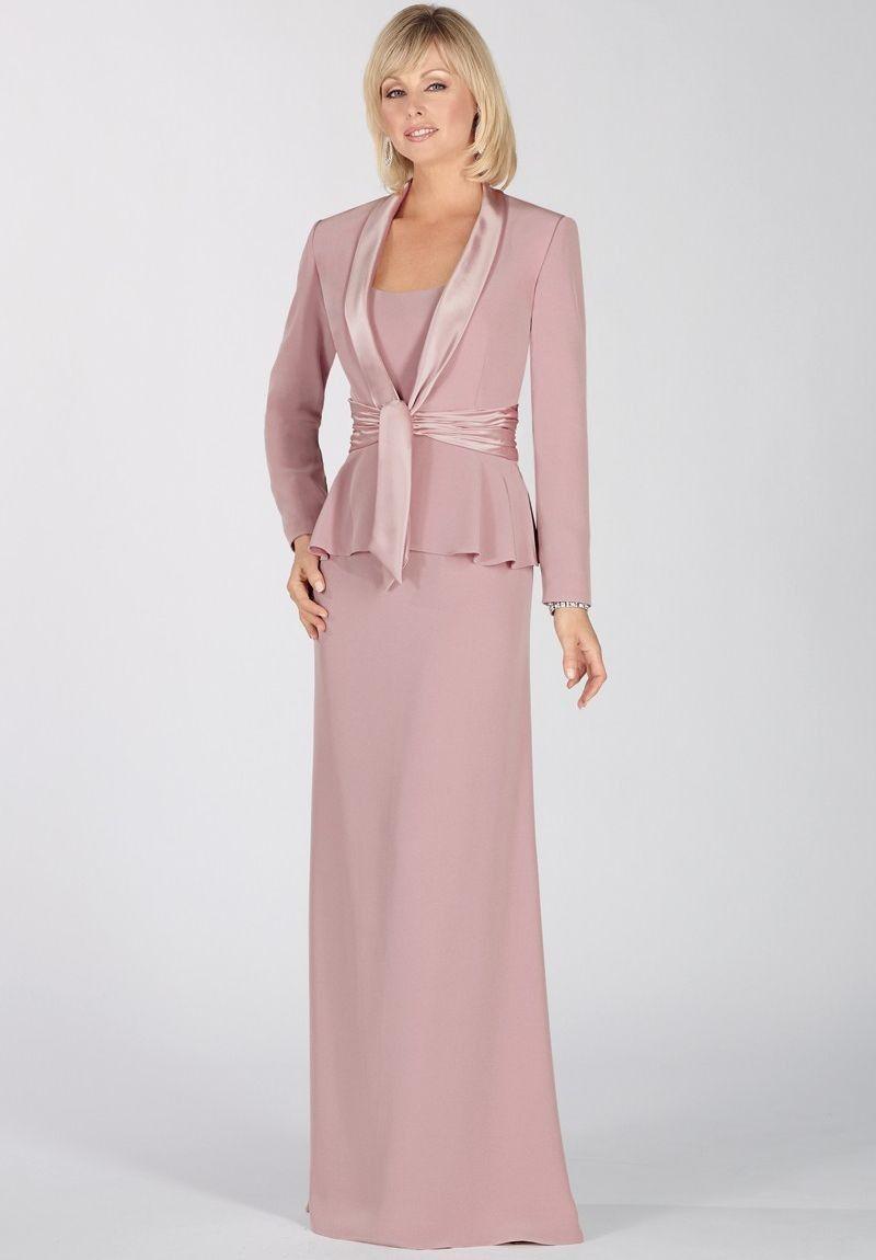 Pink dress and jacket for wedding  MotheroftheBrideDresseswithJacketsFall   Scoop Aline
