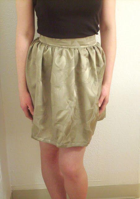 Simple gathered-to-waistband skirt tutorial!