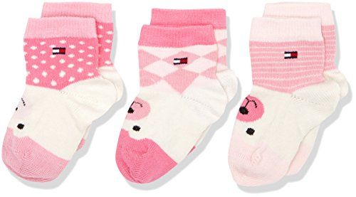 Tommy Hilfiger TH Baby Where IS the Bear Giftbox 3P, Chaussettes Mixte Bébé, Rose (Pink Lady), FR: 15/18 (Taille Fabricant: 15) ( lot de 3 )