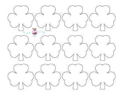 Bird On A Cake St PatrickS Day Shamrock Cupcake Toppers