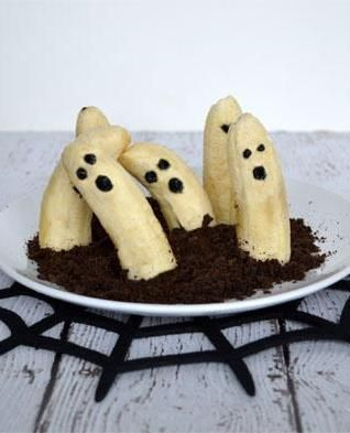 This is the laziest halloween food kitsch I've seen yet.  I mean...come on guys.