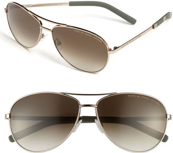 #Marc Jacobs              #Eyewear                  #MARC #Marc #Jacobs #59mm #Aviator #Sunglasses #Light #Gold/ #Gold/ #Brown #Size                        MARC by Marc Jacobs 59mm Aviator Sunglasses Light Gold/ Gold/ Brown One Size                            http://www.seapai.com/product.aspx?PID=5182192