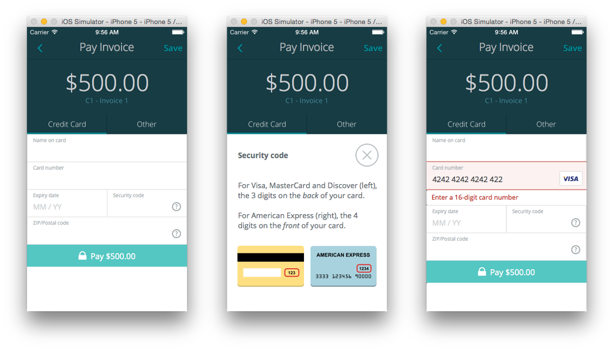 The Anatomy Of A Credit Card Form  User Experience Design And
