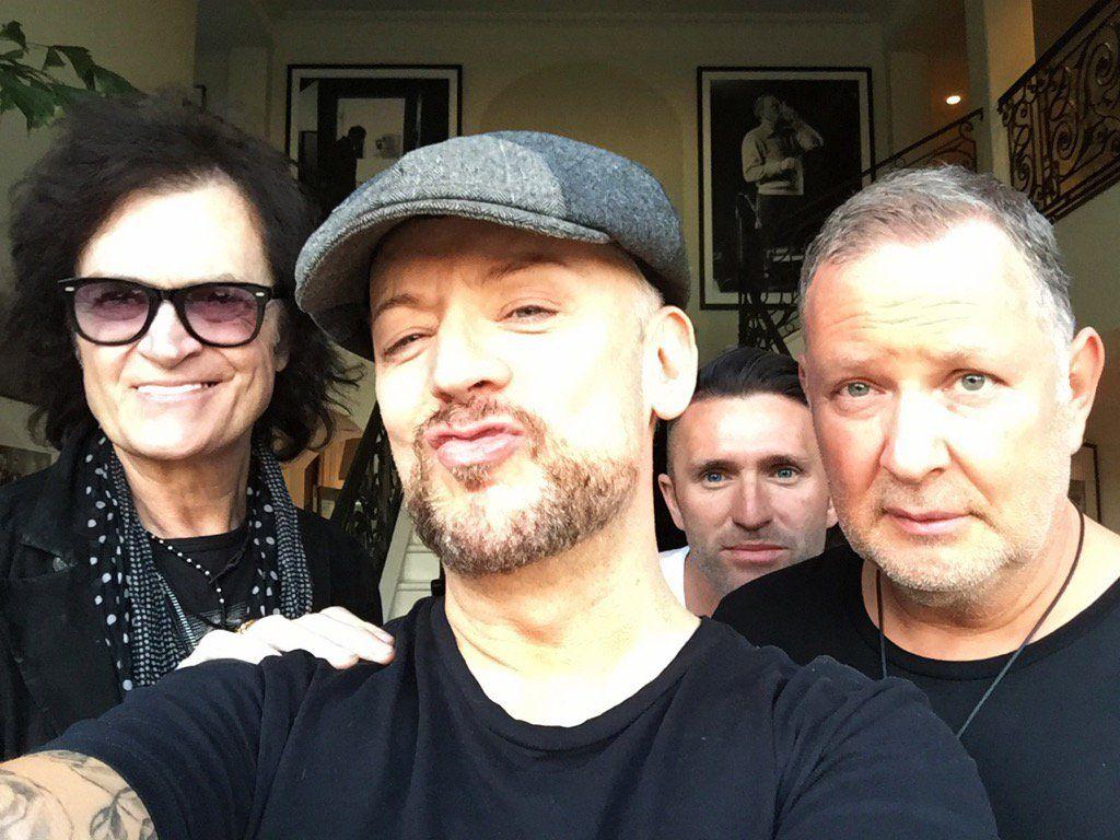 The lads... Glenn Hughes, Boy George, Robbie Keane & Paul Kemsley