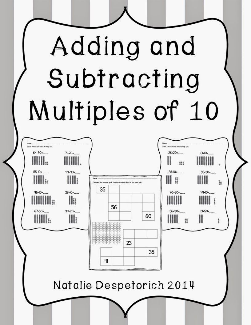 Adding and Subtracting Multiples of 10   Addition words [ 1056 x 816 Pixel ]