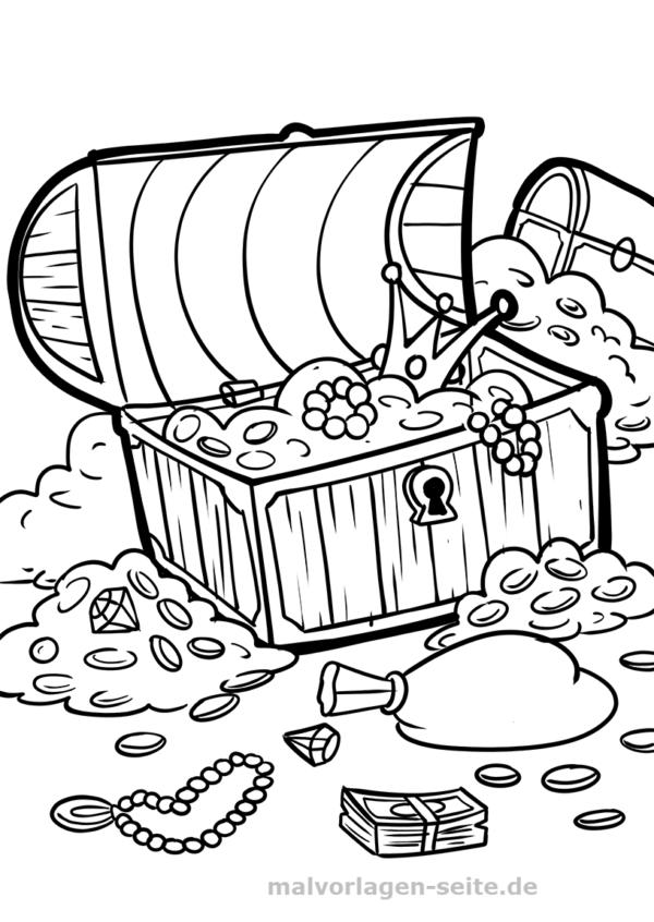 Malvorlage Schatztruhe Piraten Ausmalbilder Ausmalbilder Zum Ausdrucken Malvorlagen
