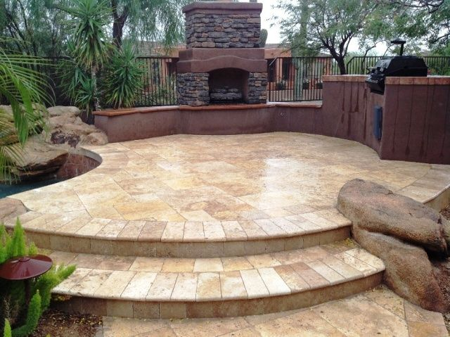 travertine patio steps | Give Your Walkway, Driveway, or ... on Travertine Patio Ideas id=25917